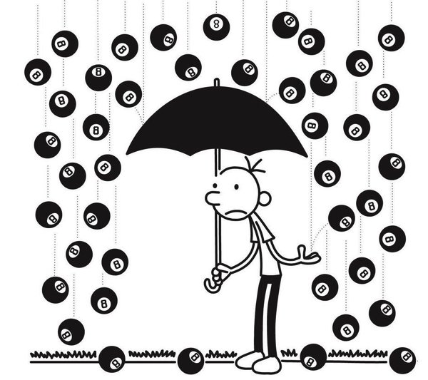 diary-of-a-wimpy-kid-8-hard-luck-raining-magic-8-balls-greg-heffley-eff-kinney
